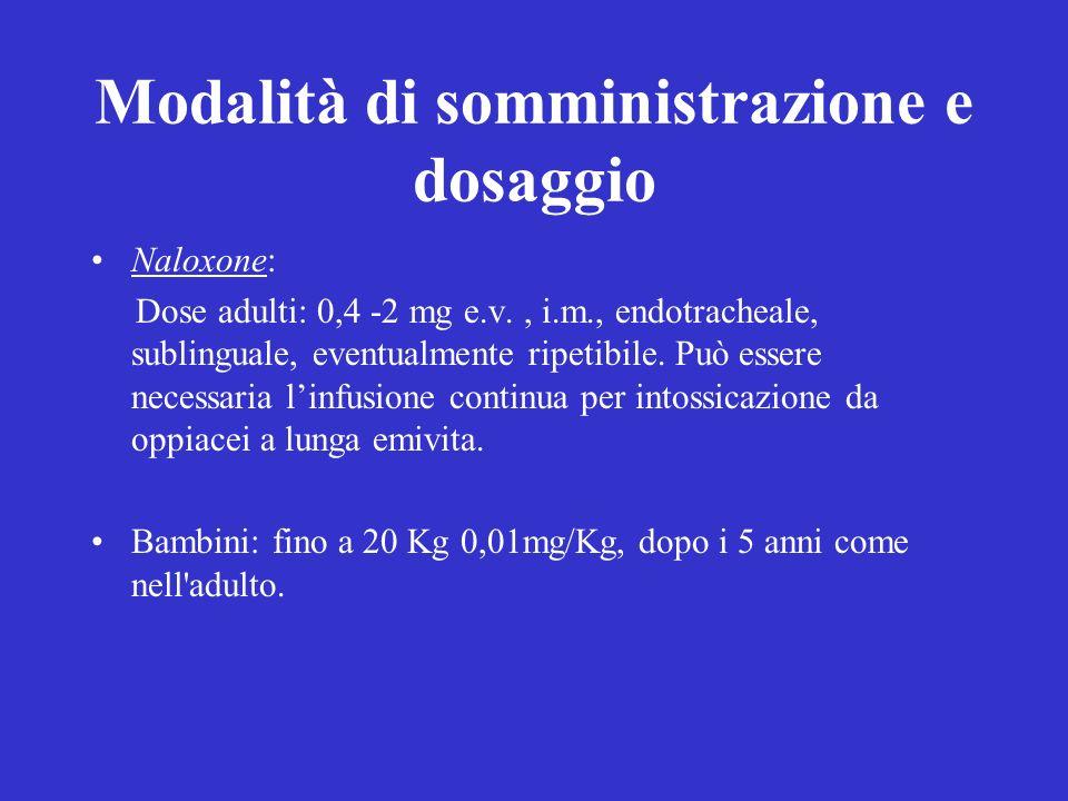 Modalità di somministrazione e dosaggio