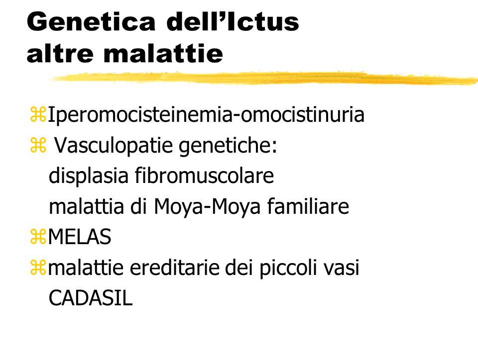 Genetica dell'Ictus altre malattie