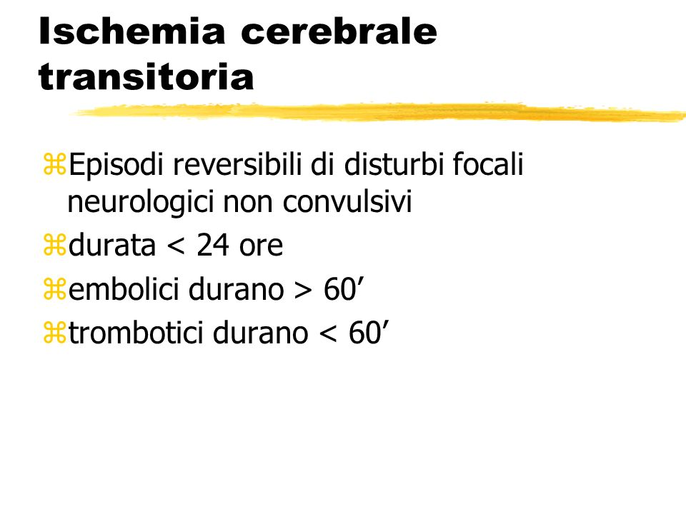 Ischemia cerebrale transitoria