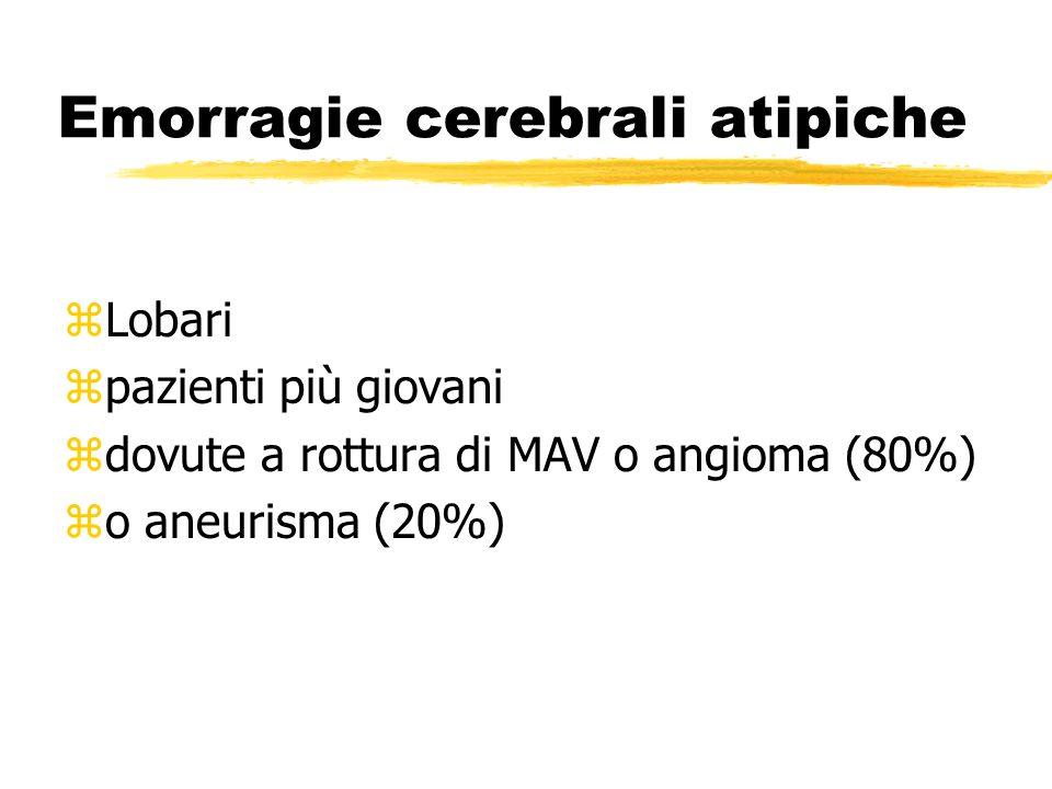 Emorragie cerebrali atipiche