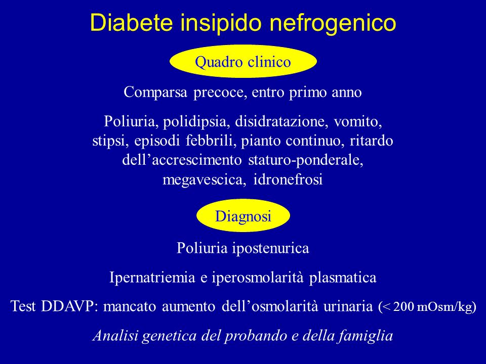 Diabete insipido nefrogenico