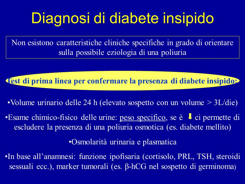 Diagnosi di diabete insipido