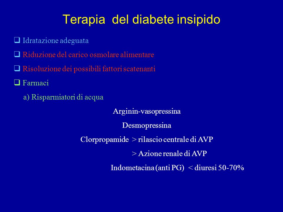 Terapia del diabete insipido