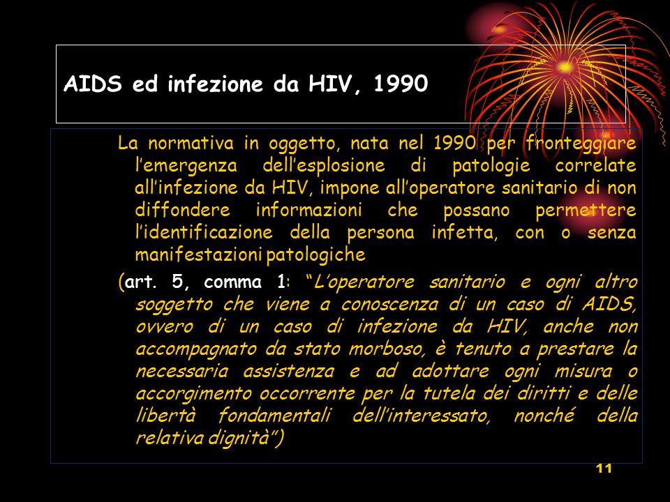 AIDS ed infezione da HIV, 1990