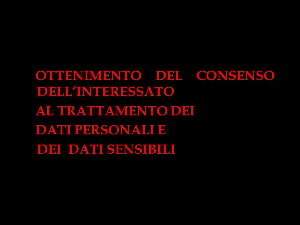 OTTENIMENTO DEL CONSENSO DELL'INTERESSATO