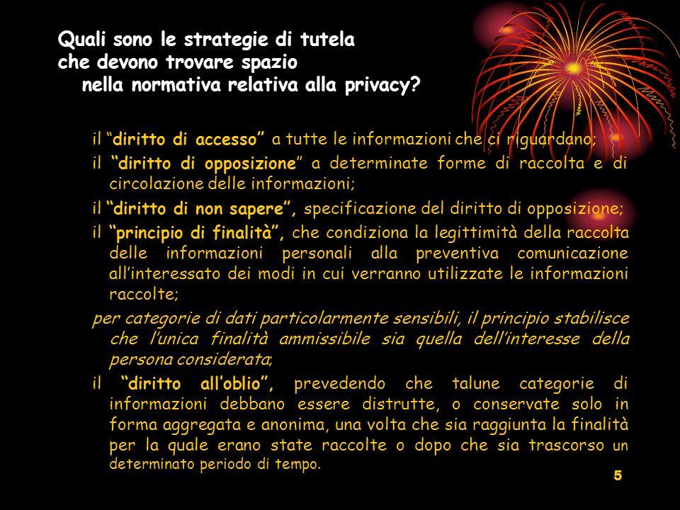 Quali sono le strategie di tutela che devono trovare spazio nella normativa relativa alla privacy