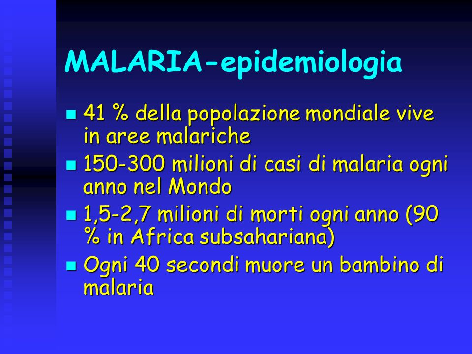MALARIA-epidemiologia