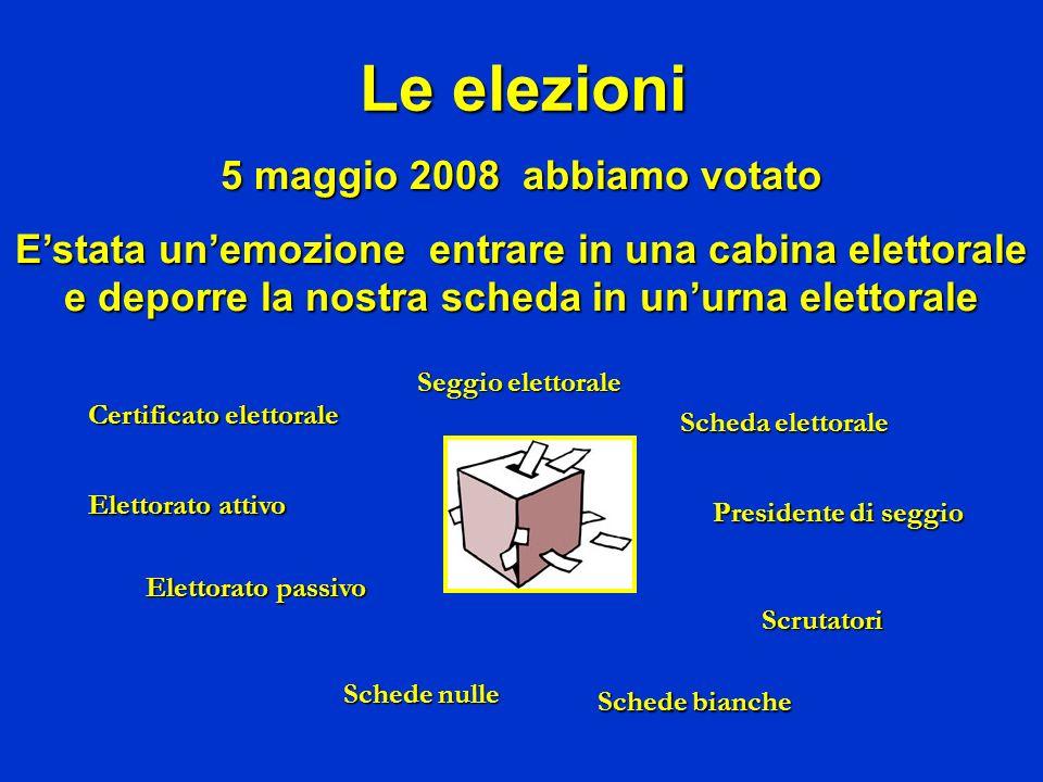 Le elezioni 5 maggio 2008 abbiamo votato