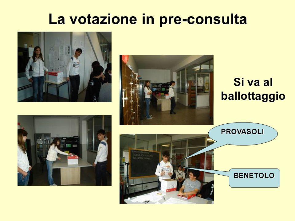 La votazione in pre-consulta