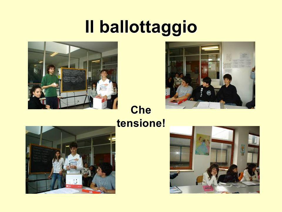 Il ballottaggio Che tensione!