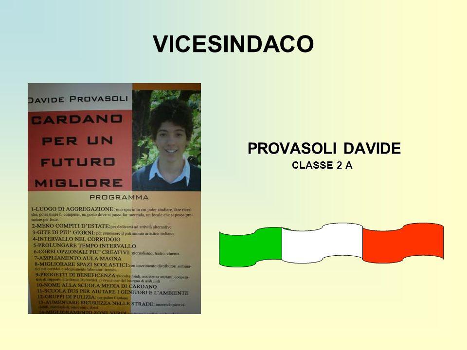 VICESINDACO PROVASOLI DAVIDE CLASSE 2 A