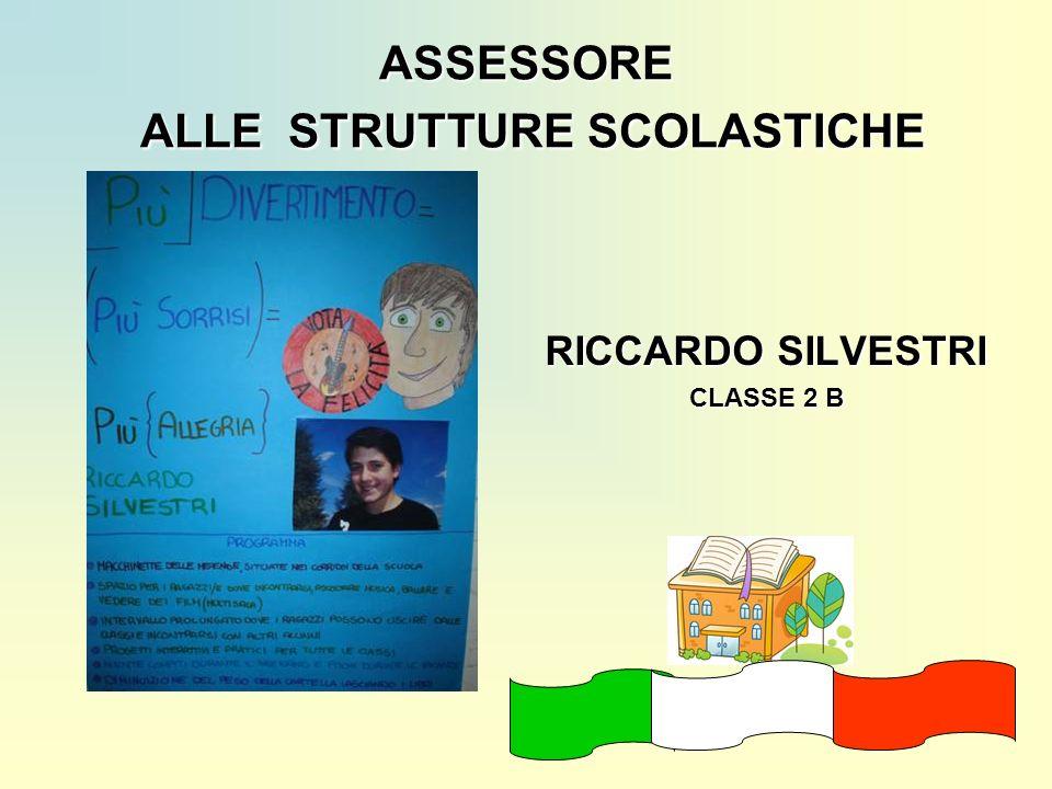 ASSESSORE ALLE STRUTTURE SCOLASTICHE
