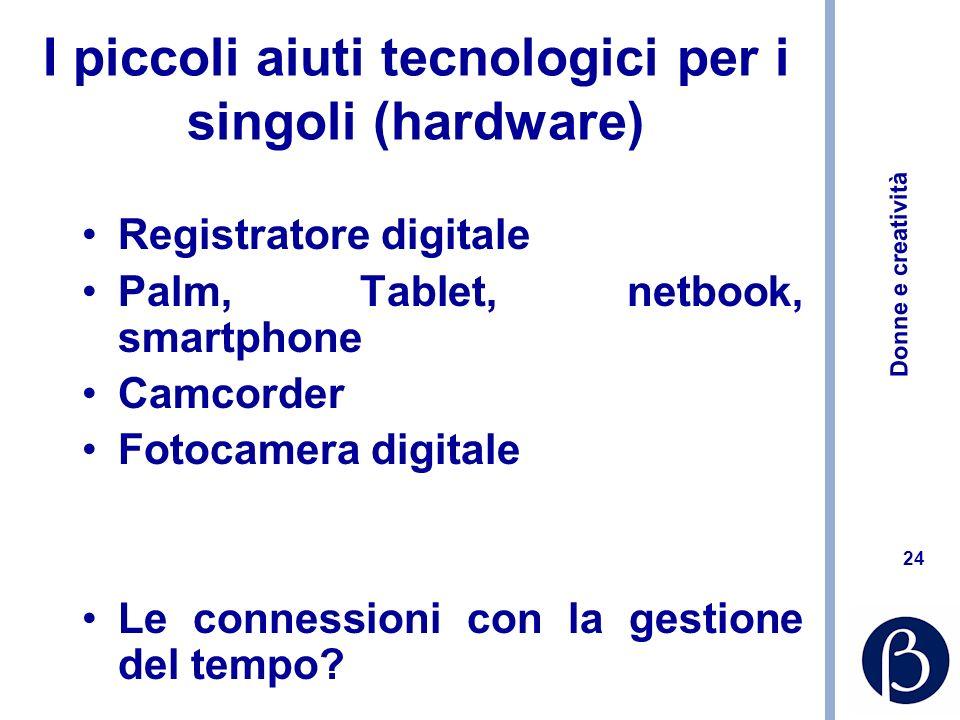 I piccoli aiuti tecnologici per i singoli (hardware)
