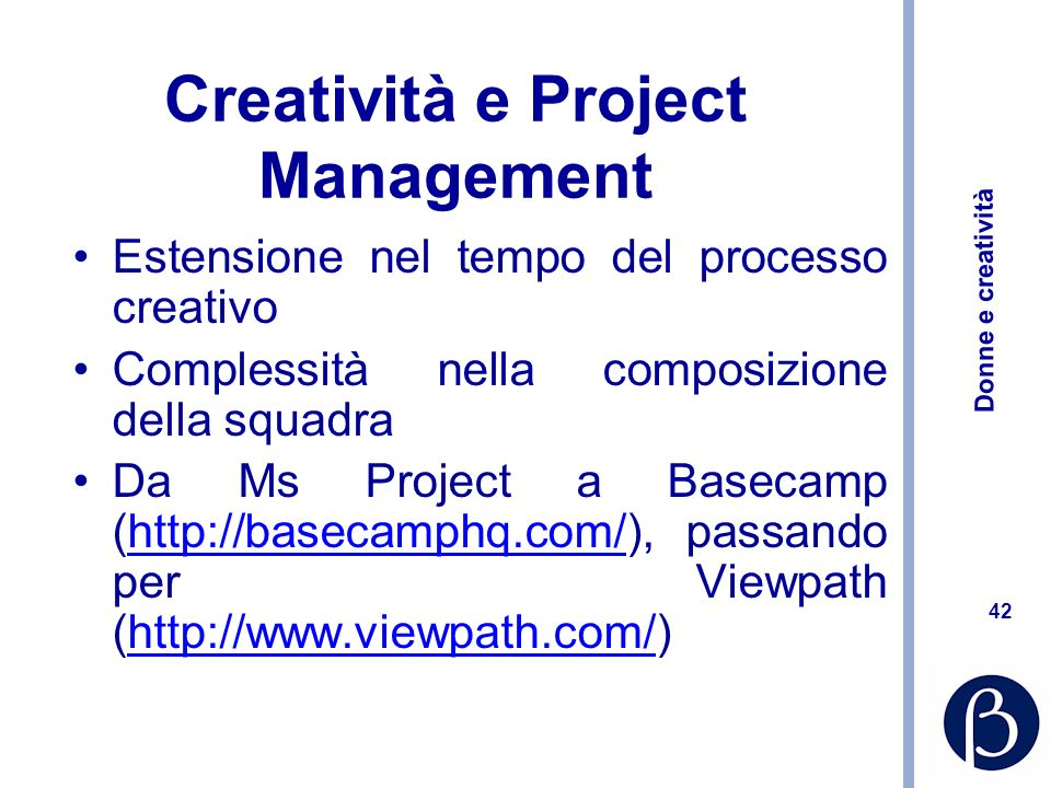Creatività e Project Management