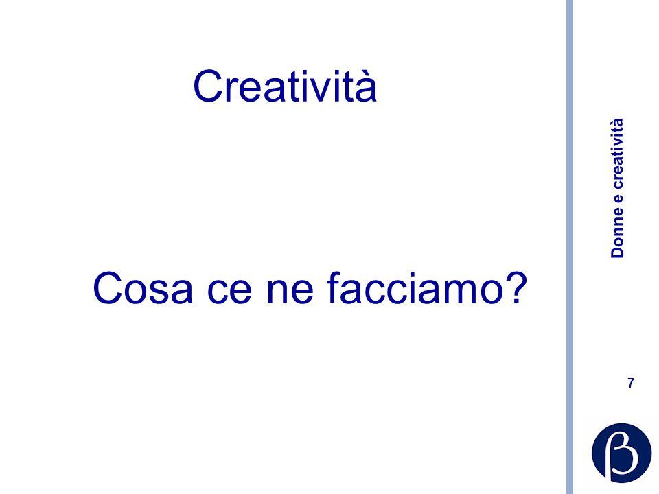 Creatività Cosa ce ne facciamo