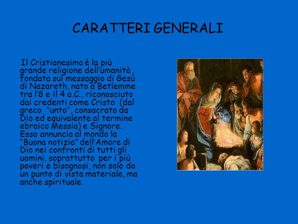 CARATTERI GENERALI