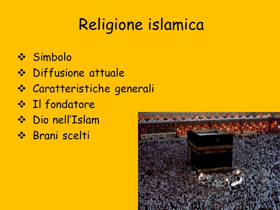 Religione islamica Simbolo Diffusione attuale Caratteristiche generali