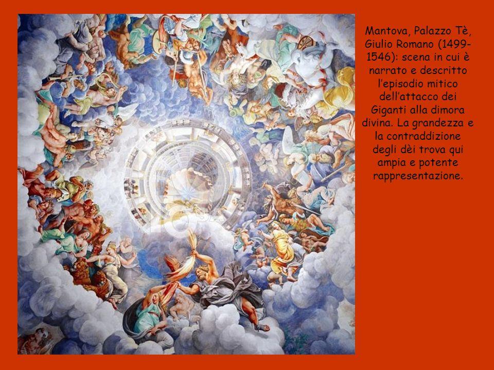 Mantova, Palazzo Tè, Giulio Romano (1499-1546): scena in cui è narrato e descritto l'episodio mitico dell'attacco dei Giganti alla dimora divina.
