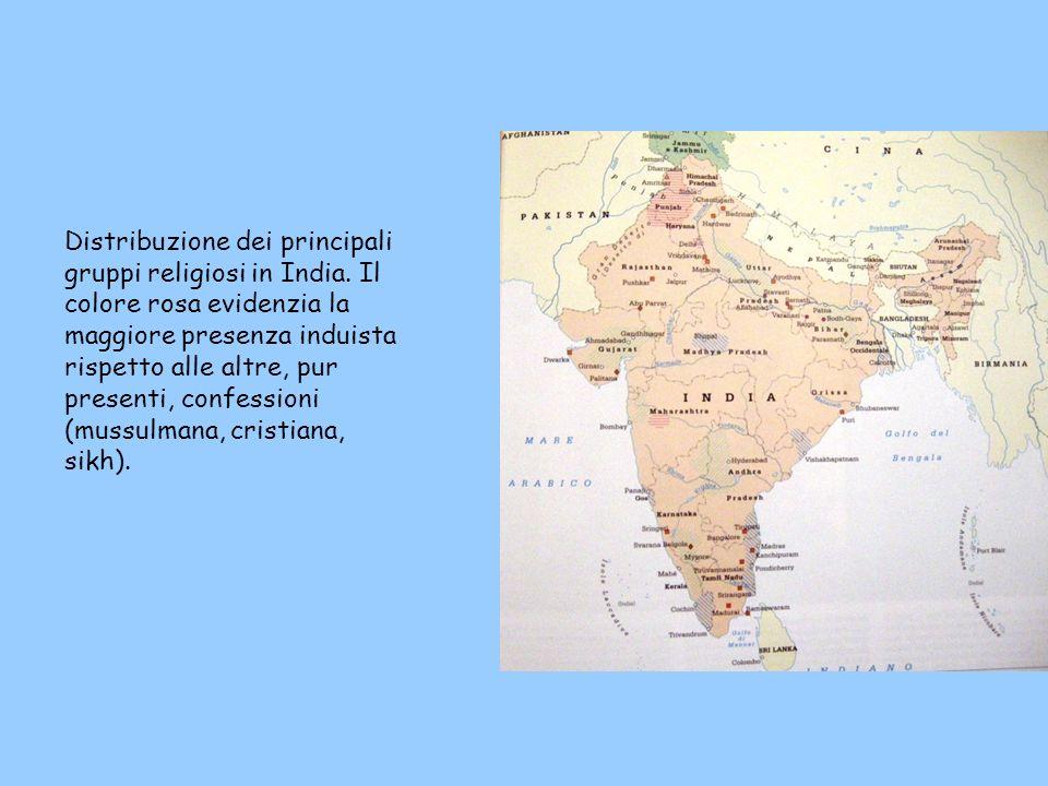 Distribuzione dei principali gruppi religiosi in India