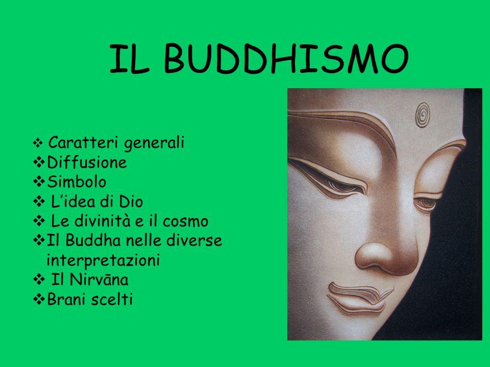 IL BUDDHISMO Diffusione Simbolo L'idea di Dio Le divinità e il cosmo
