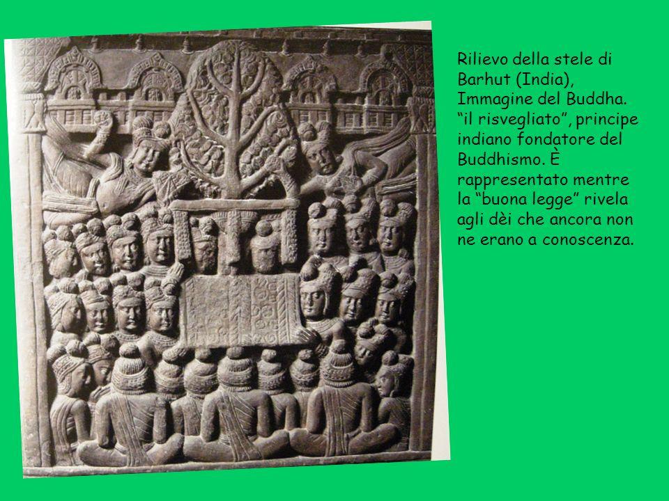 Rilievo della stele di Barhut (India), Immagine del Buddha
