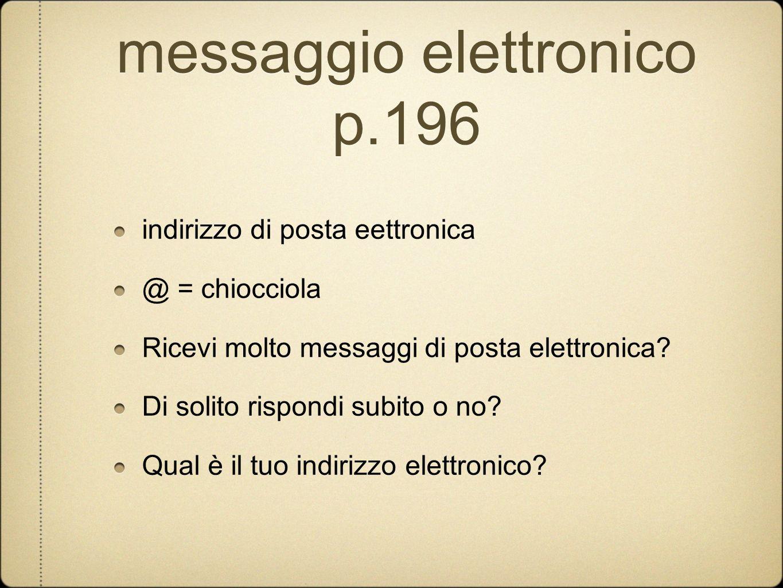 messaggio elettronico p.196