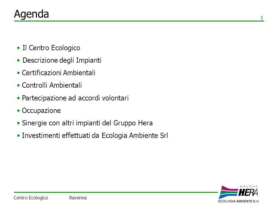 Agenda Il Centro Ecologico Descrizione degli Impianti