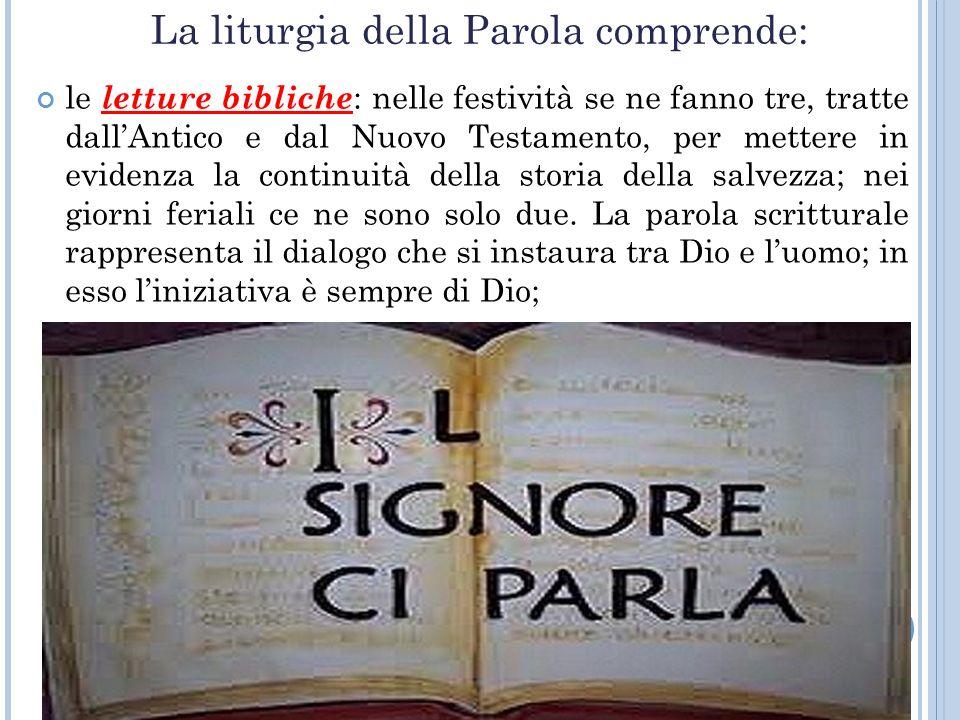 La liturgia della Parola comprende: