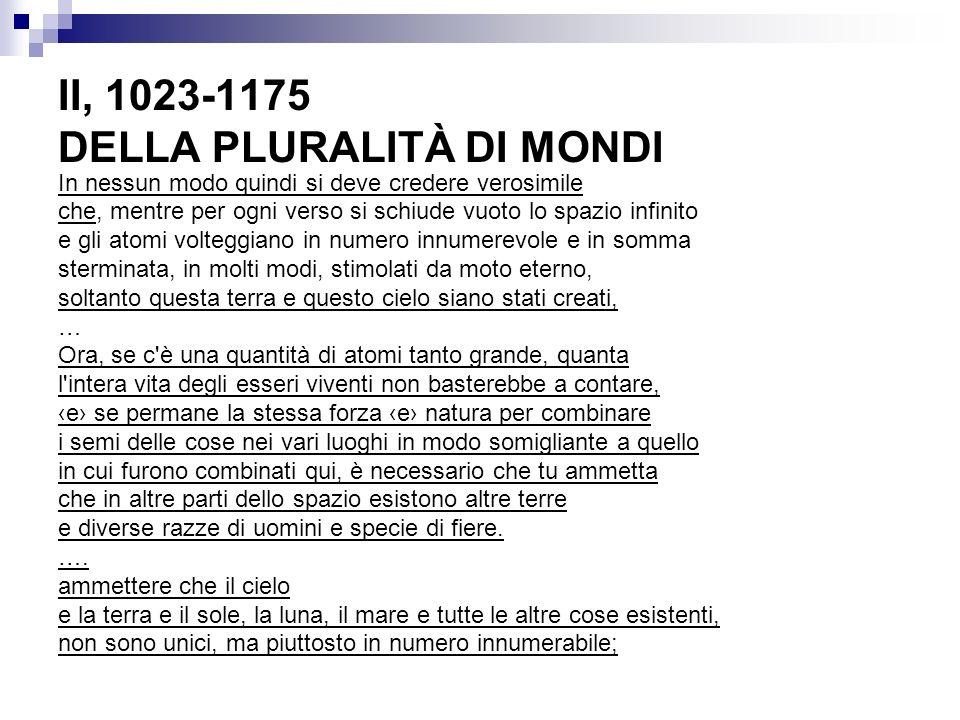 II, 1023-1175 DELLA PLURALITÀ DI MONDI