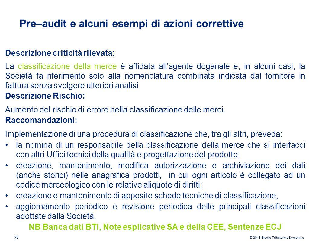NB Banca dati BTI, Note esplicative SA e della CEE, Sentenze ECJ