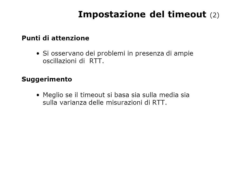 Impostazione del timeout (2)