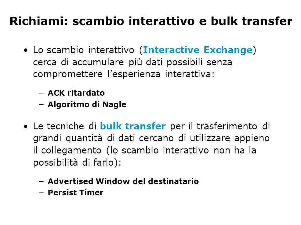 Richiami: scambio interattivo e bulk transfer