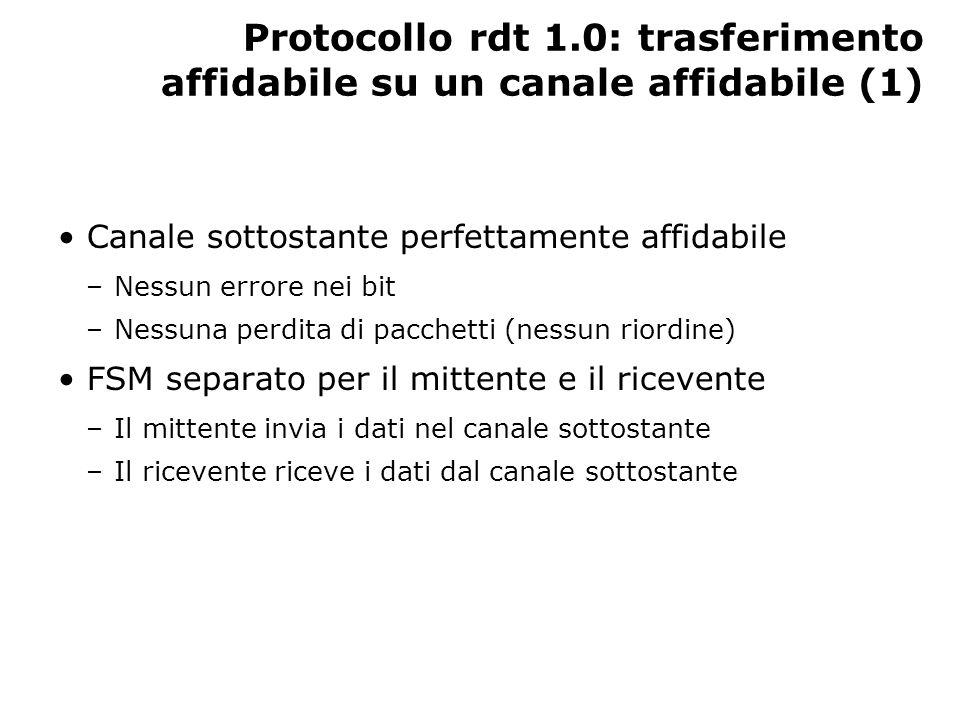 Protocollo rdt 1.0: trasferimento affidabile su un canale affidabile (1)
