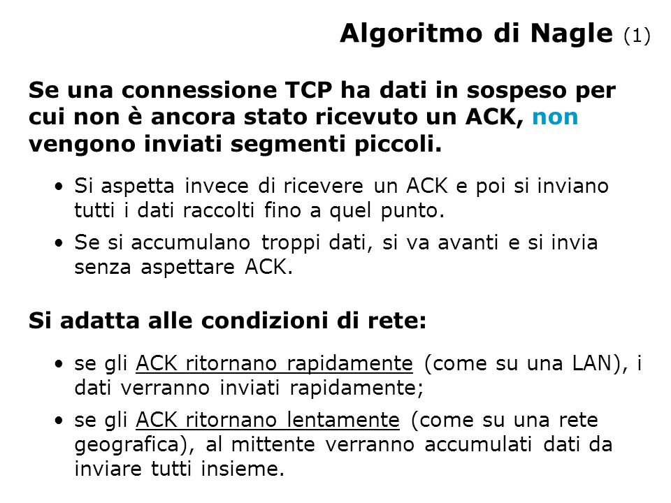 Algoritmo di Nagle (1)