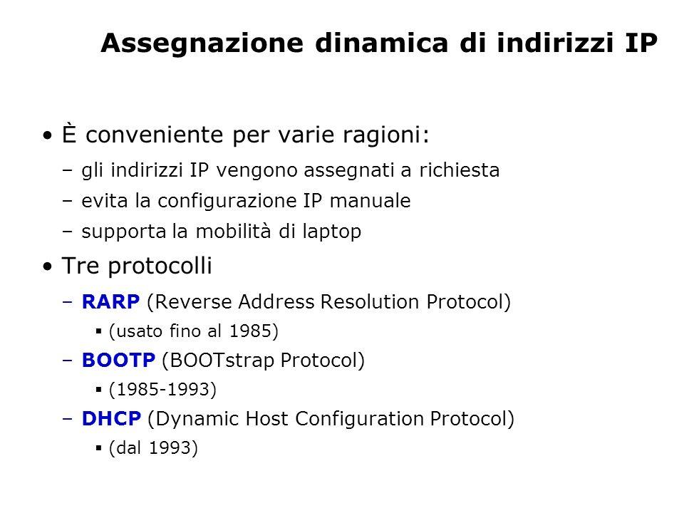 Assegnazione dinamica di indirizzi IP