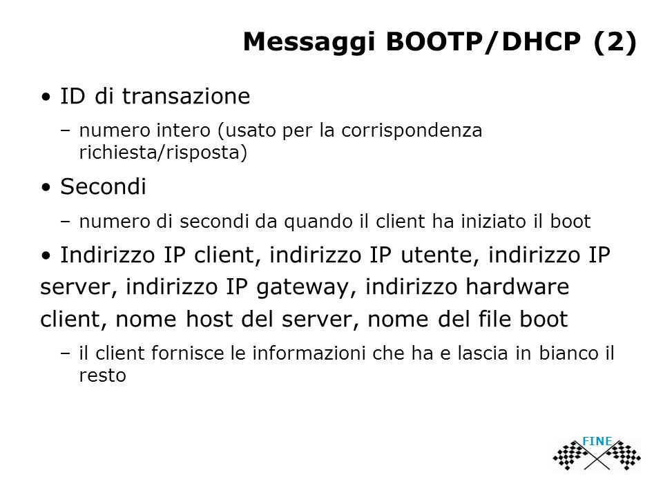 Messaggi BOOTP/DHCP (2)