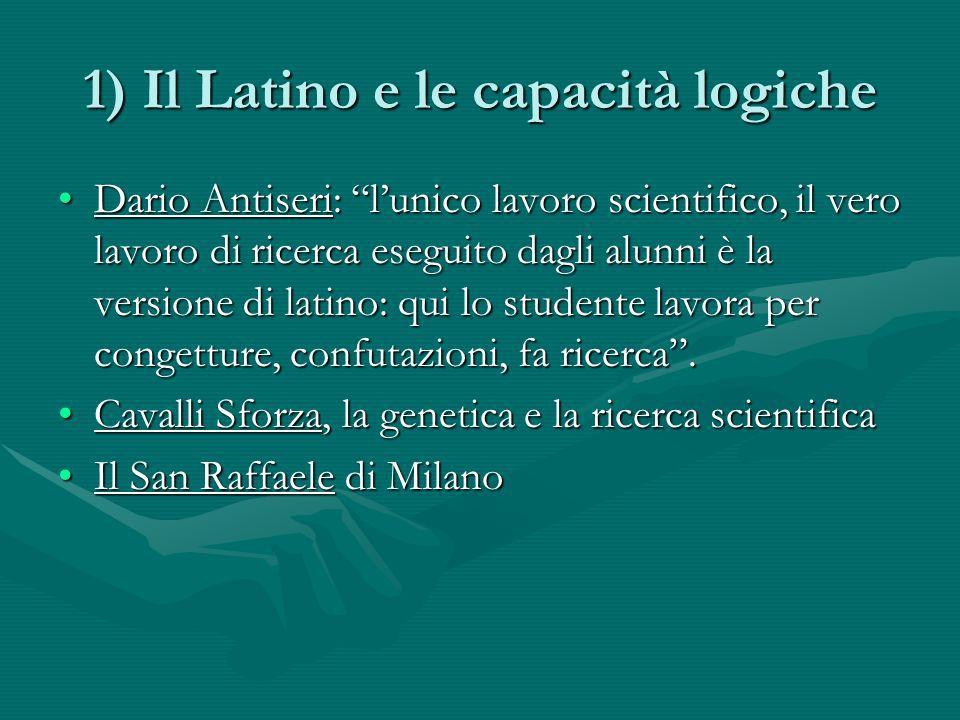 1) Il Latino e le capacità logiche