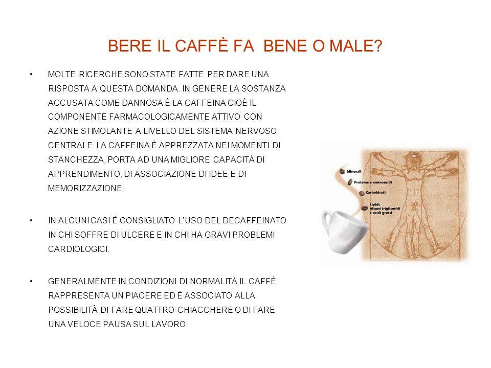 BERE IL CAFFÈ FA BENE O MALE