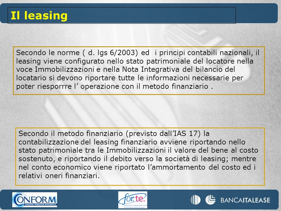 Il leasing