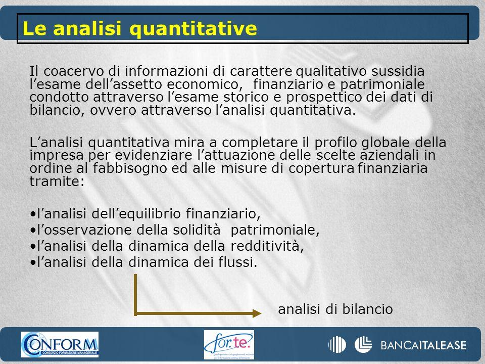 Le analisi quantitative