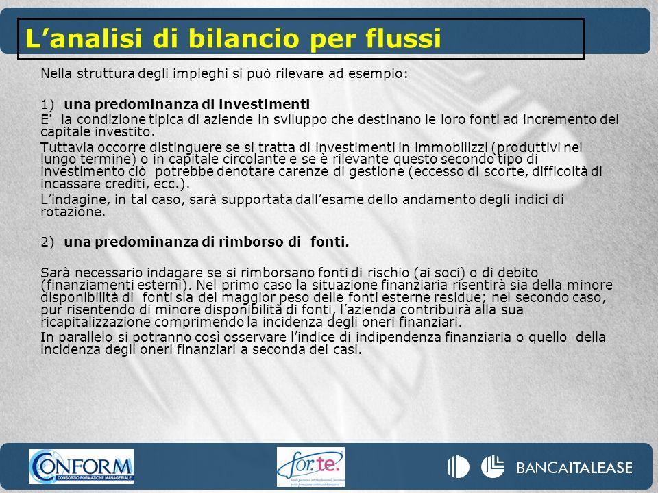 L'analisi di bilancio per flussi