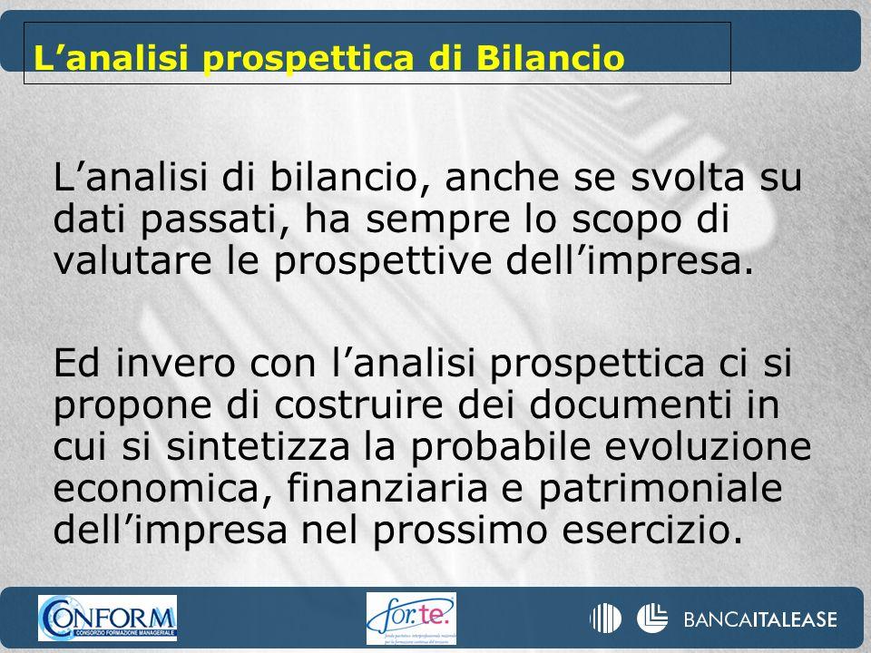 L'analisi prospettica di Bilancio