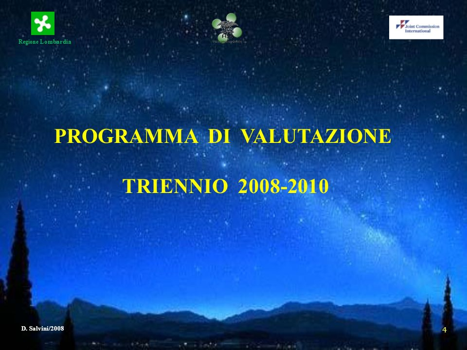 PROGRAMMA DI VALUTAZIONE