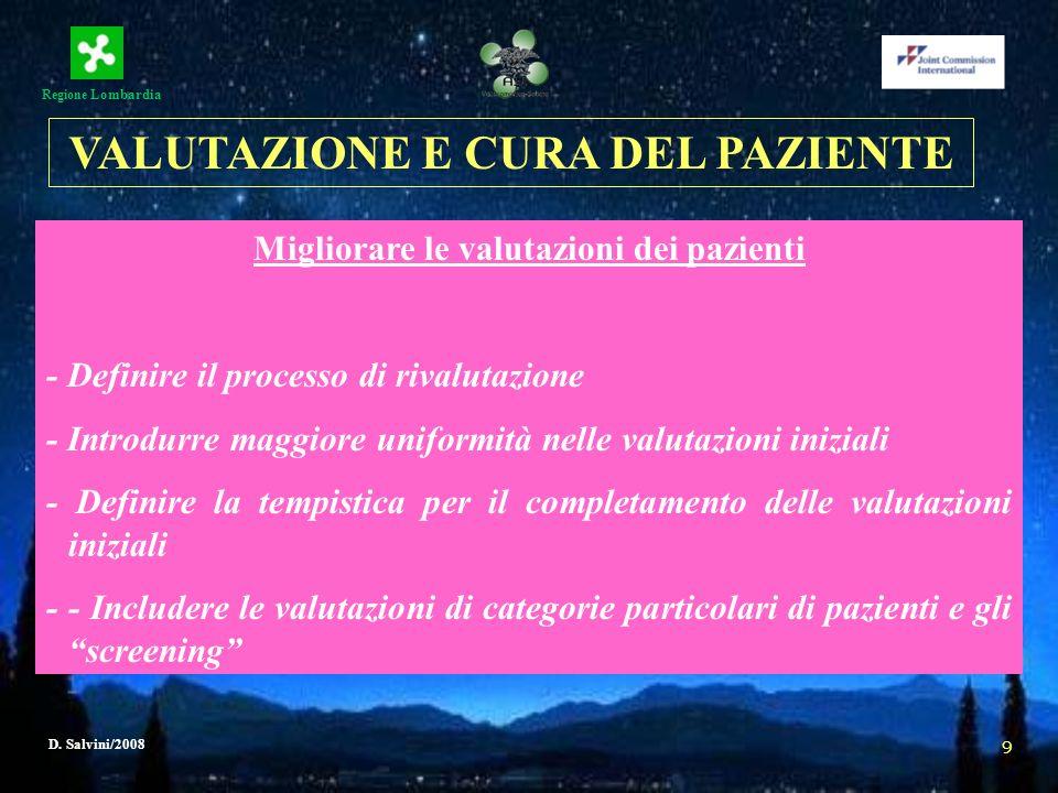 VALUTAZIONE E CURA DEL PAZIENTE Migliorare le valutazioni dei pazienti