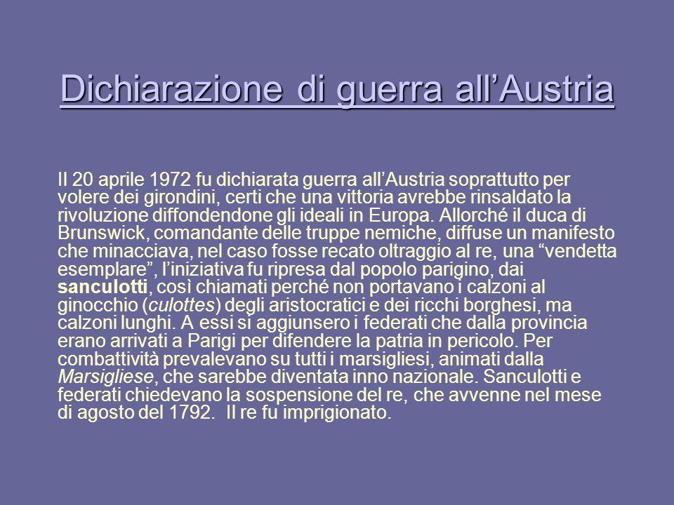 Dichiarazione di guerra all'Austria
