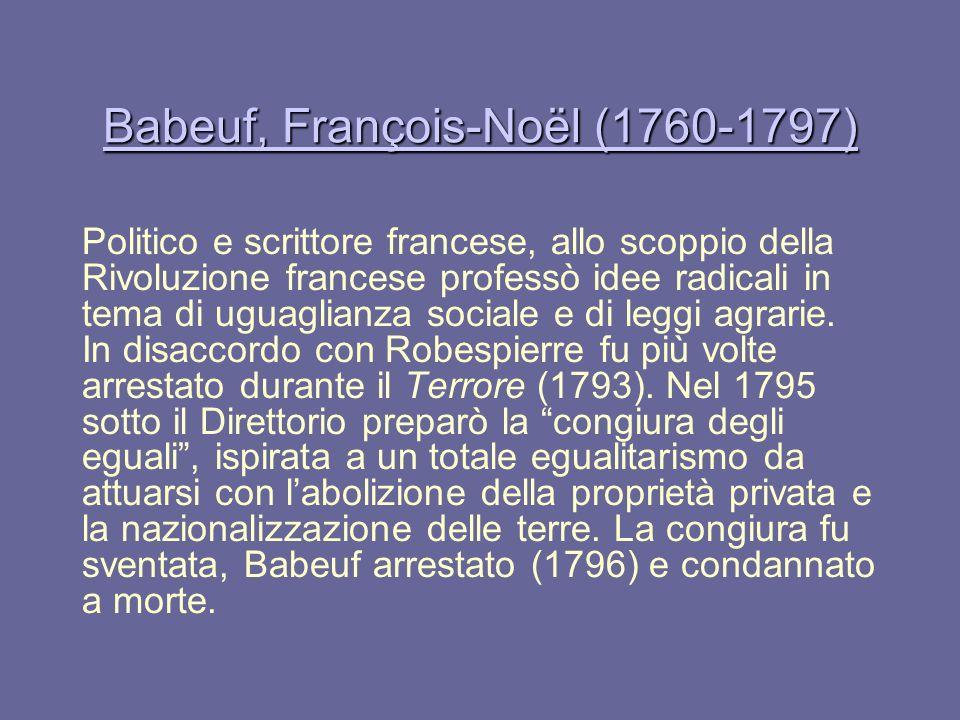 Babeuf, François-Noël (1760-1797)