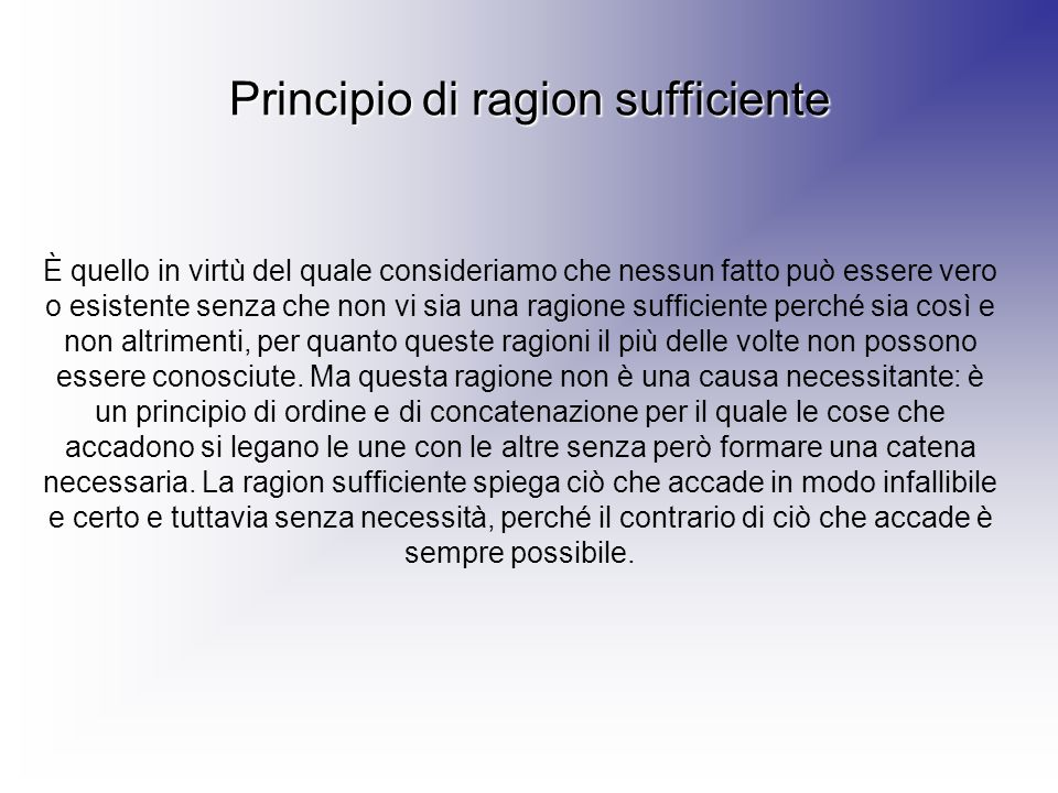 Principio di ragion sufficiente