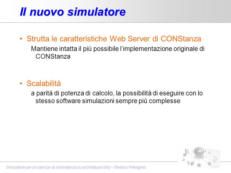 Il nuovo simulatore Strutta le caratteristiche Web Server di CONStanza