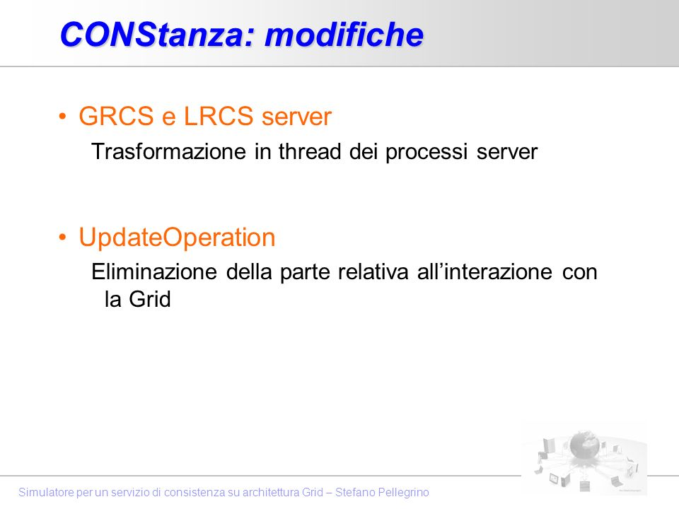 CONStanza: modifiche GRCS e LRCS server UpdateOperation