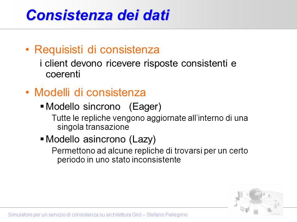 Consistenza dei dati Requisisti di consistenza Modelli di consistenza